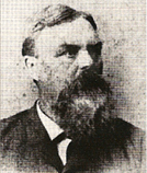 Pictured is Mark Radcliffe, whom the 1849 Rumsey Hand Pumper was named.