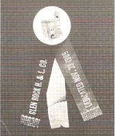 Souvenir ribbon from the dedication of the Fire House on November 29th, 1906.